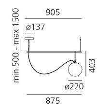 Nh s2 neri et hu suspension pendant light  artemide 1275010a  design signed 60801 thumb