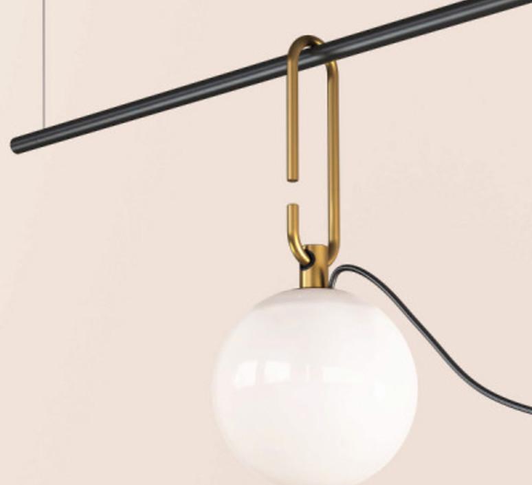 Nh s2 neri et hu suspension pendant light  artemide 1275010a  design signed 73914 product
