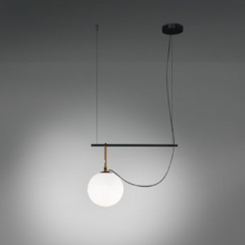 Suspension nh s2 blanc laiton noir l90 5cm h40 3cm artemide normal