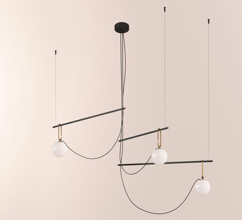 Nh s3 neri et hu suspension pendant light  artemide 1276010a  design signed 60791 product