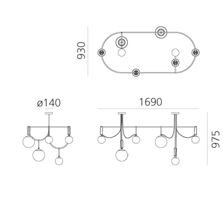 Nh s5 elliptic neri et hu suspension pendant light  artemide 1279010a  design signed nedgis 120038 product