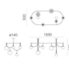 Nh s5 elliptic neri et hu suspension pendant light  artemide 1279010a  design signed nedgis 120038 thumb