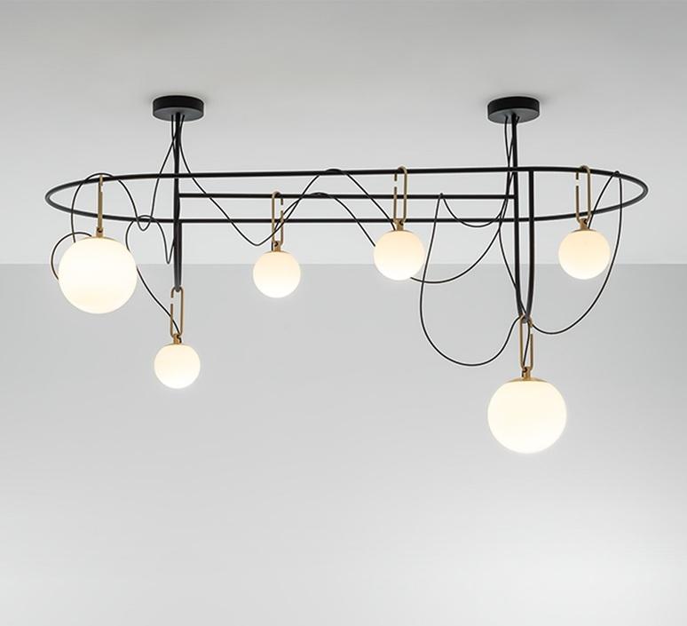 Nh s5 elliptic neri et hu suspension pendant light  artemide 1279010a  design signed nedgis 120039 product