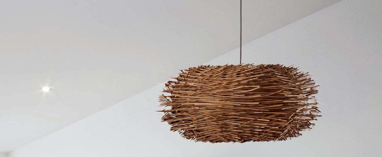 Suspension nido bois noir led o60cm h29cm faro normal