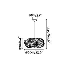 Nido estudi ribaudi suspension pendant light  faro 68153  design signed 40339 thumb