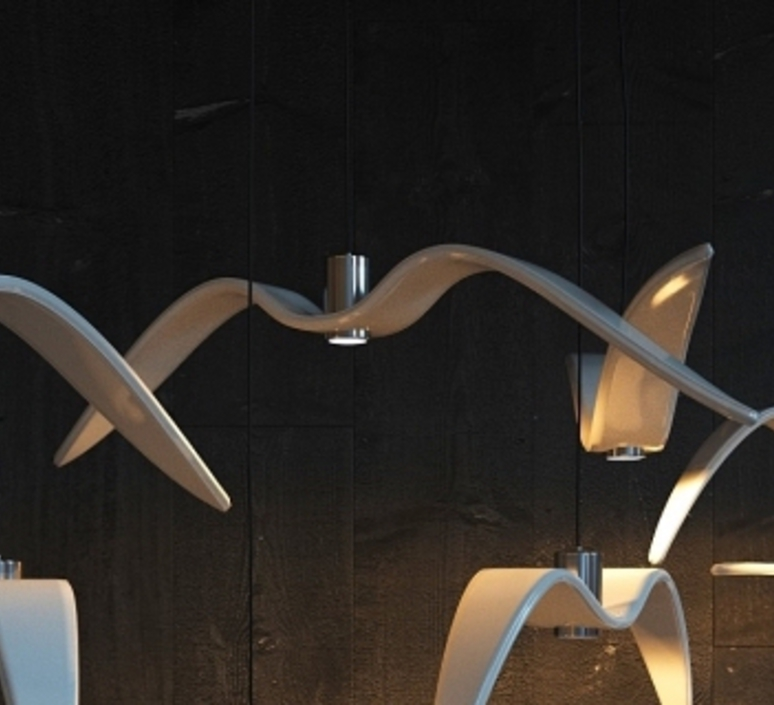 Night birds  suspension pendant light  brokis pc963 cgc772 ccs775 ccsc843 cecl149 ceb825  design signed 39017 product