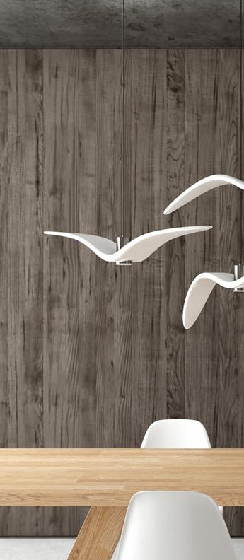 Suspension night birds blanc et argent led o780cm h120cm brokis normal