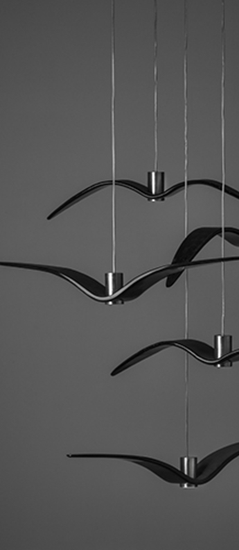 Suspension night birds noir led o780cm h120cm brokis normal