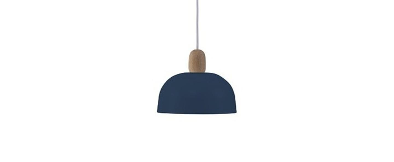 Suspension nina bleu gris o23cm h18cm harto normal