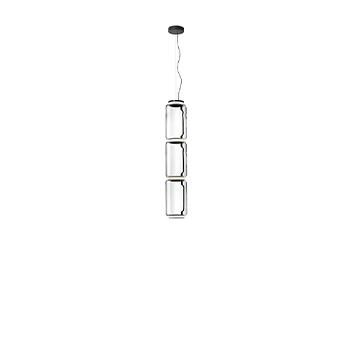 Suspension noctambule 3 cylindres bas transparent led 2700k 3960lm o25cm h138cm flos normal
