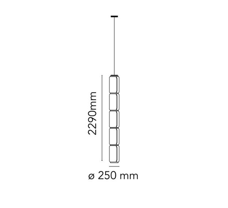 Noctambule 5 cylindres bas  konstantin grcic suspension pendant light  flos f0278000  design signed nedgis 110643 product