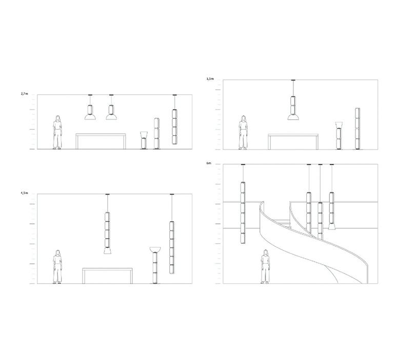 Noctambule 5 cylindres bas  konstantin grcic suspension pendant light  flos f0278000  design signed nedgis 110644 product