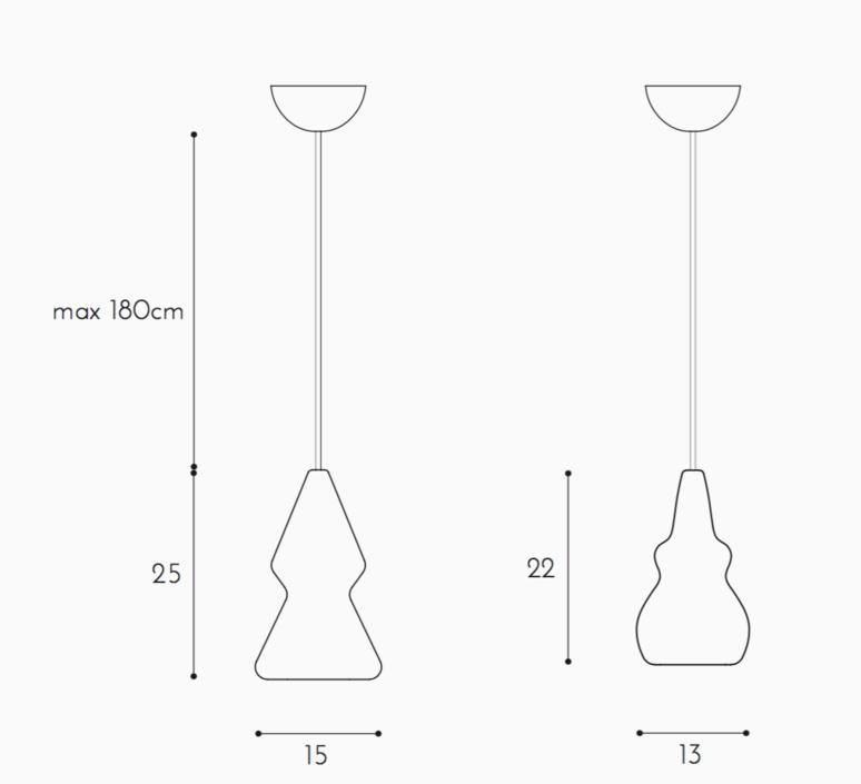 Nojar enrico zanolla suspension pendant light  zanolla ltnoj25  design signed 55322 product