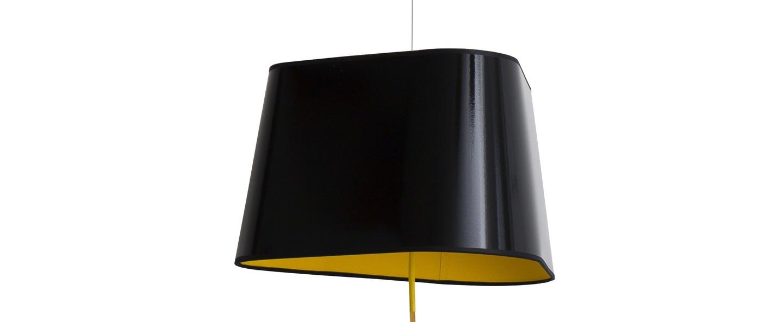 Suspension nomade grand nuage noir jaune o43cm designheure normal