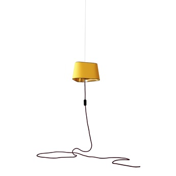 Suspension nomade petit nuage jaune or o24cm designheure normal