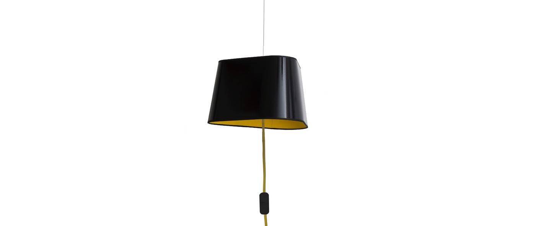 suspension nomade petit nuage noir jaune 24cm designheure luminaires nedgis. Black Bedroom Furniture Sets. Home Design Ideas
