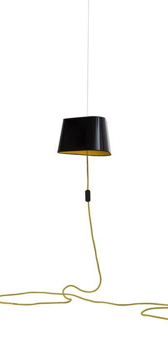 Suspension nomade petit nuage noir jaune o24cm designheure normal