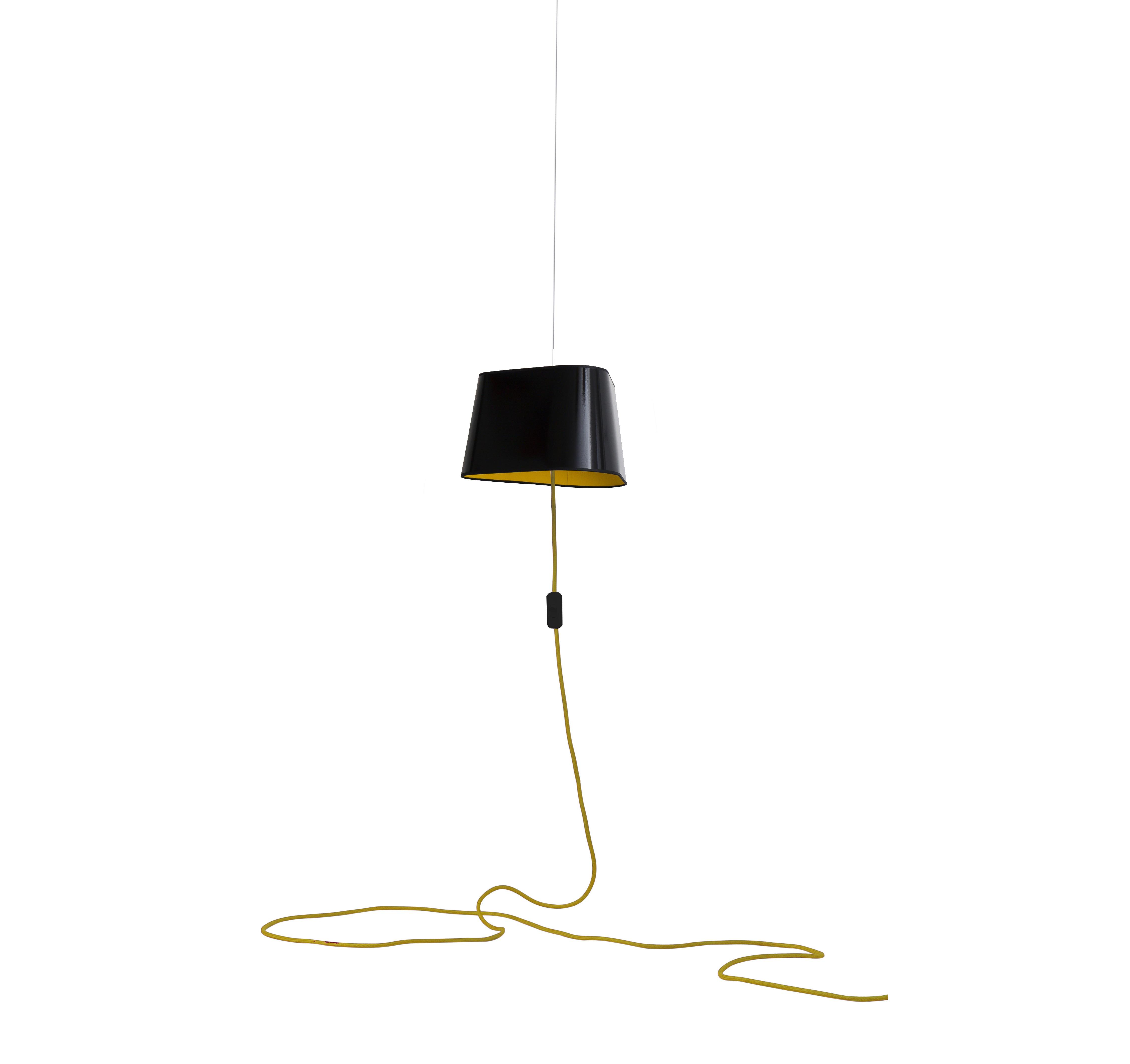 suspension nomade petit nuage noir jaune 24cm. Black Bedroom Furniture Sets. Home Design Ideas