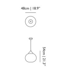 Non random s bertjan pot suspension pendant light  moooi molnra48   design signed 38541 thumb