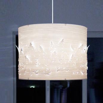 Suspension norwegian forest bois blanc o55cm northern lighting normal