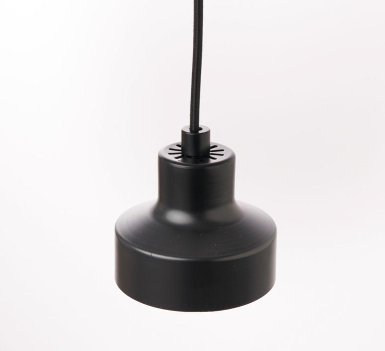 Nox franco zavarise suspension pendant light  zava nox pendantlamp black ral9005  design signed 36506 product