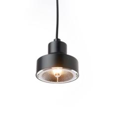 Nox franco zavarise suspension pendant light  zava nox pendantlamp black ral9005  design signed 36507 thumb