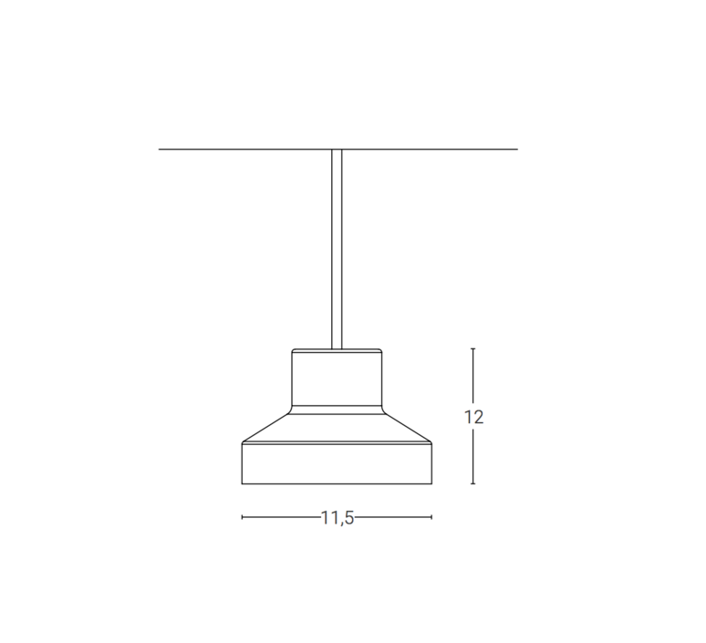 Nox franco zavarise suspension pendant light  zava nox pendantlamp black ral9005  design signed 36508 product