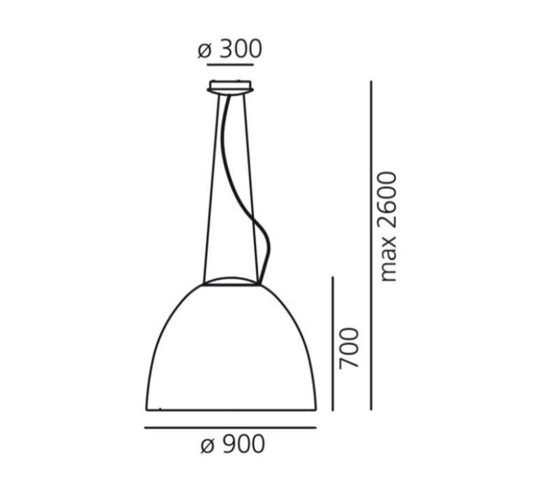 Nur 1618 ernesto gismondi suspension pendant light  artemide a243210  design signed 61356 product