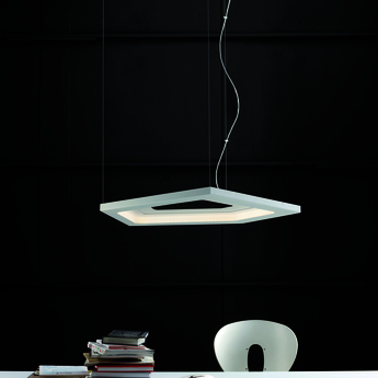Suspension nura 1 blanc led 2700k 3800lm l90cm h3cm carpyen normal