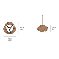 Nut ray power suspension pendant light  lzf nut s wh 28  design signed nedgis 117325 thumb