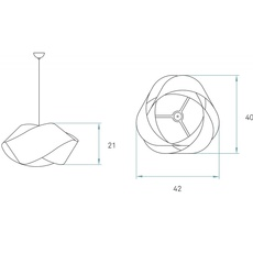 Nut s ray power suspension pendant light  lzf nut s 20 ivory white  design signed 30339 thumb
