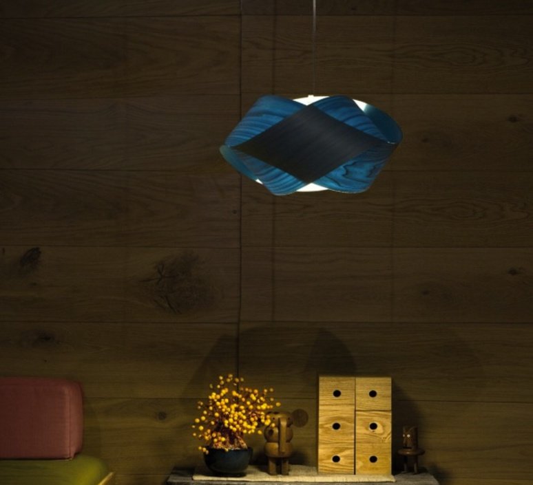 Nut s ray power suspension pendant light  lzf nut s 28 blue  design signed 30331 product