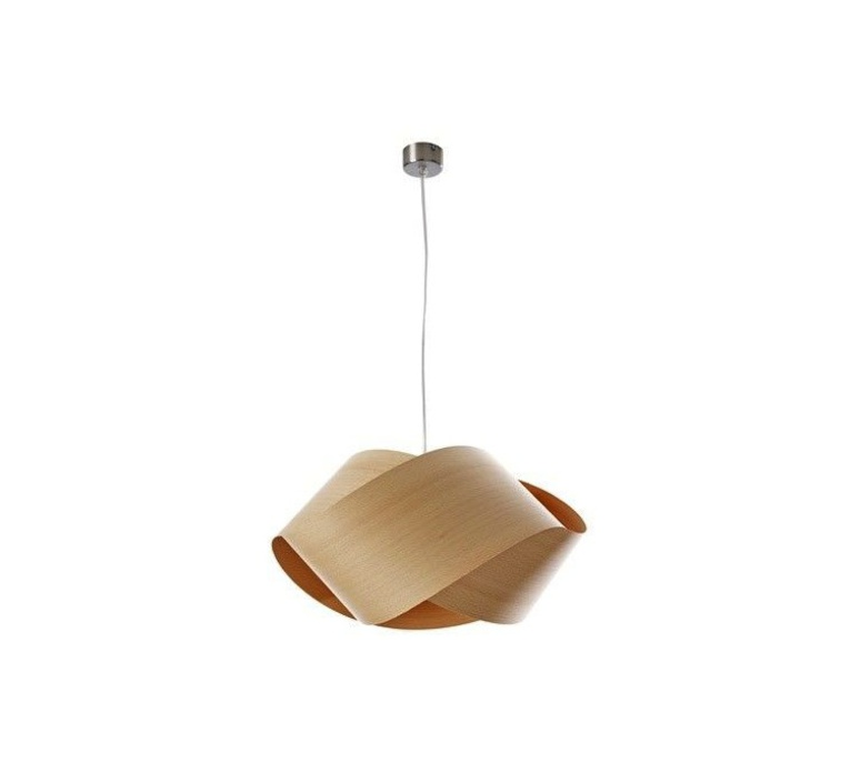 Nut s ray power suspension pendant light  lzf nut s 22 natural beech  design signed 30305 product