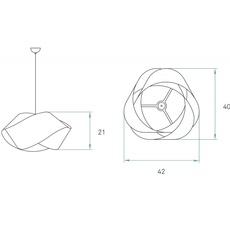 Nut s ray power suspension pendant light  lzf nut s 24 yellow  design signed 30334 thumb