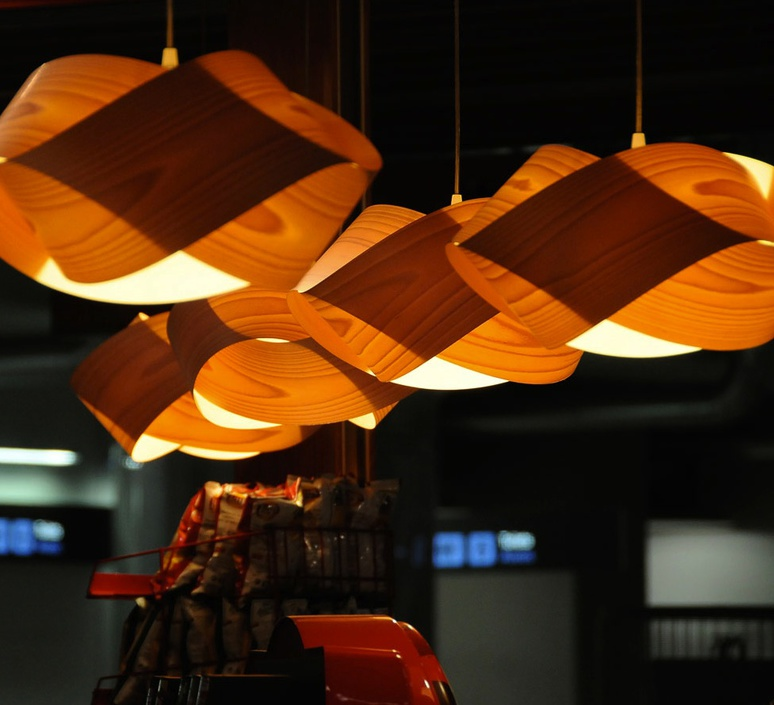 Nut s ray power suspension pendant light  lzf nut s 25 orange  design signed 30314 product