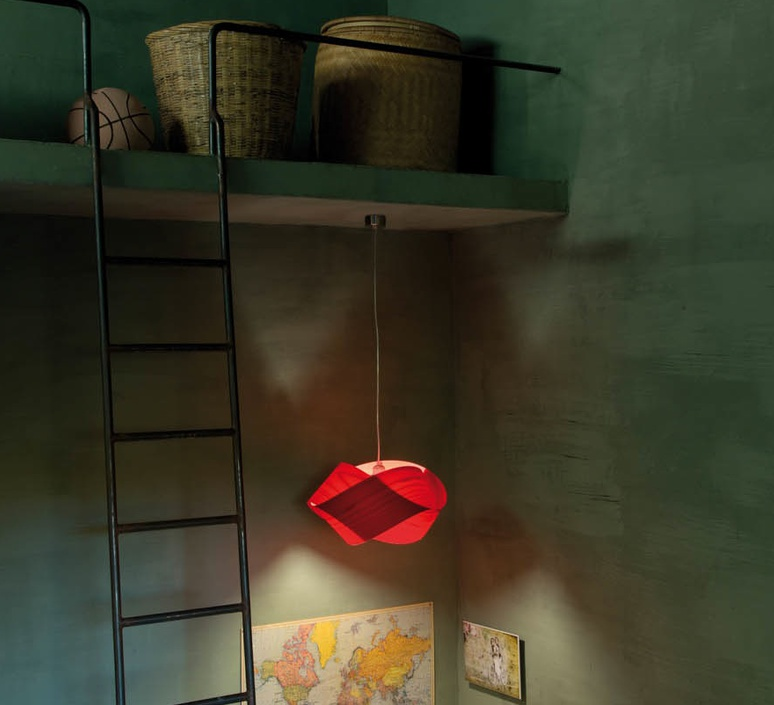 Nut s ray power suspension pendant light  lzf nut s 26 red  design signed 30283 product