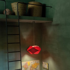 Nut s ray power suspension pendant light  lzf nut s 26 red  design signed 30283 thumb