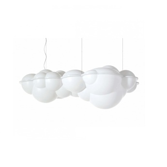 Suspension nuvola blanc led 2700k 13000lm l154cm h56cm nemo lighting normal