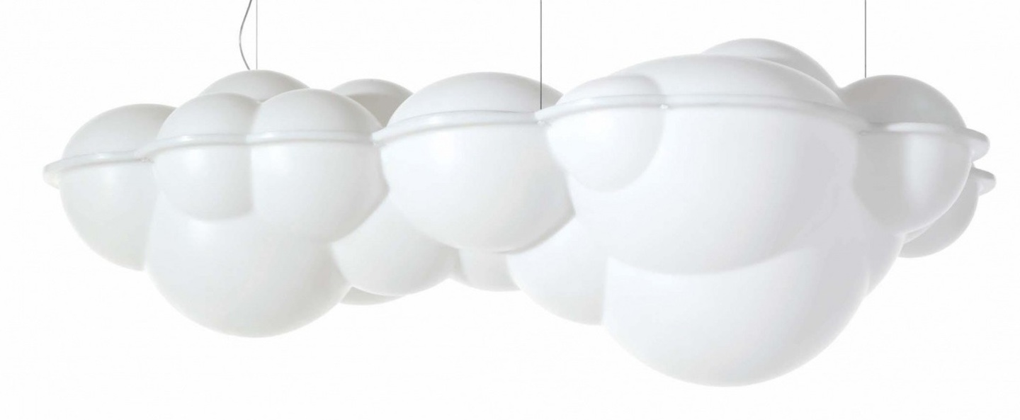 Suspension nuvola minor blanc led 2700k 8000lm l100cm h37cm nemo lighting normal