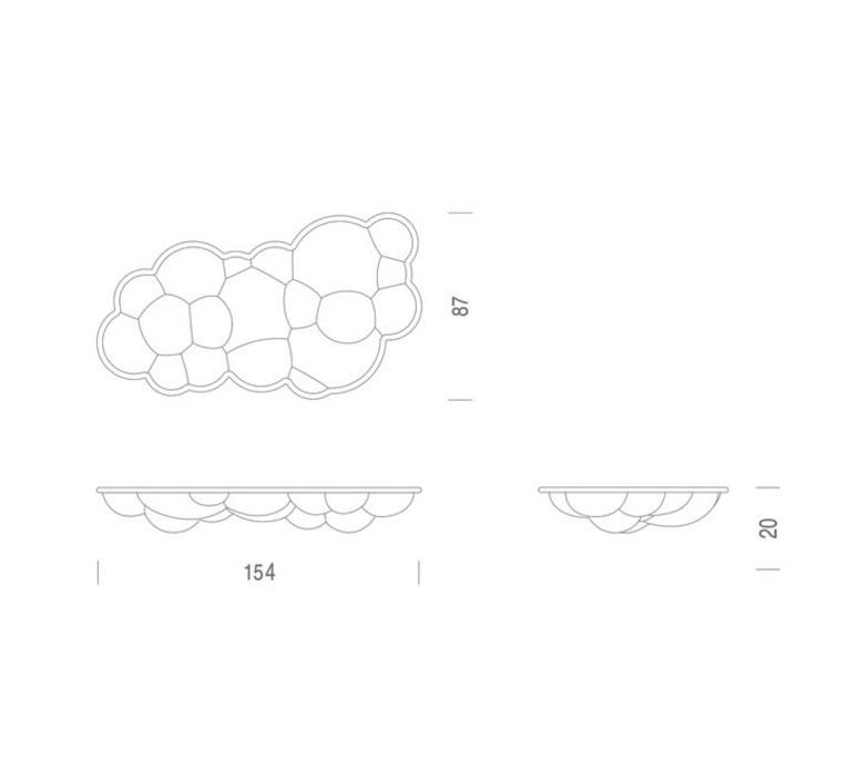 Nuvola wall ceiling 20 mario bellini suspension pendant light  nemo lighting nuv lww 31 white  design signed nedgis 68883 product