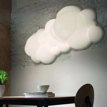 Suspension nuvola wall ceiling 37 blanc led 3000k 7900lm l154cm p37cm nemo lighting normal