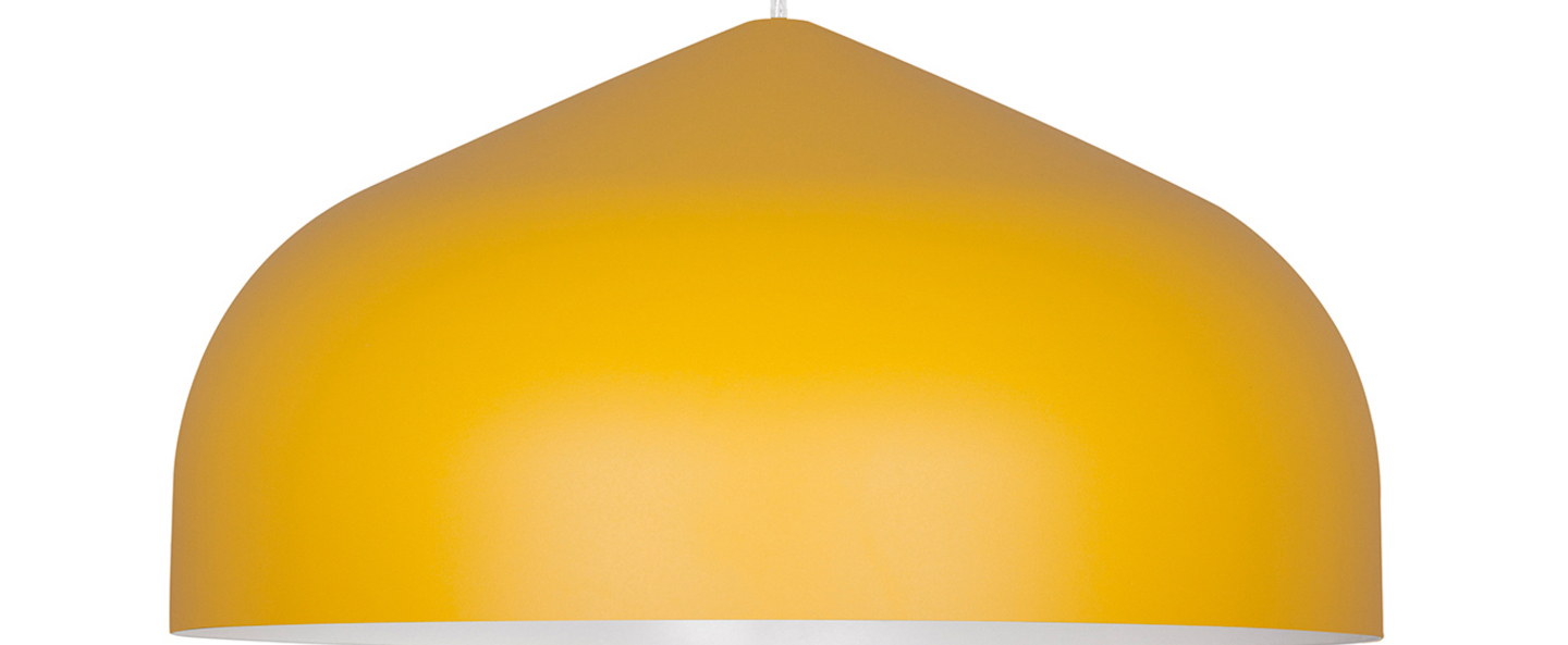 Suspension odile m jaune o43cm h22cm lumen center italia normal
