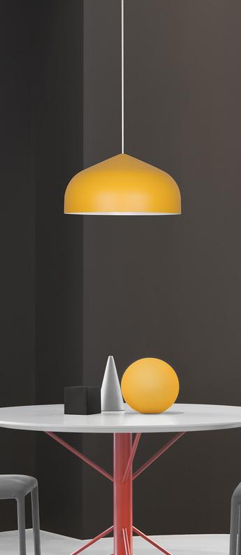 Suspension odile m jaune o43cm h22cm lumen center italia normal