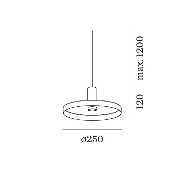 Odrey ceiling suspended 1 0 2 0 rosace en saillie noire studio wever ducre suspension pendant light  wever et ducre odrey icss ssb1g2g  design signed nedgis 94992 product