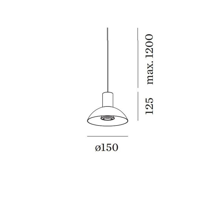 Odrey ceiling suspended 1 0 7 0 1 0 rosace en saillie noire studio wever ducre suspension pendant light  wever et ducre odrey icss ssb1b7g1g  design signed nedgis 94891 product