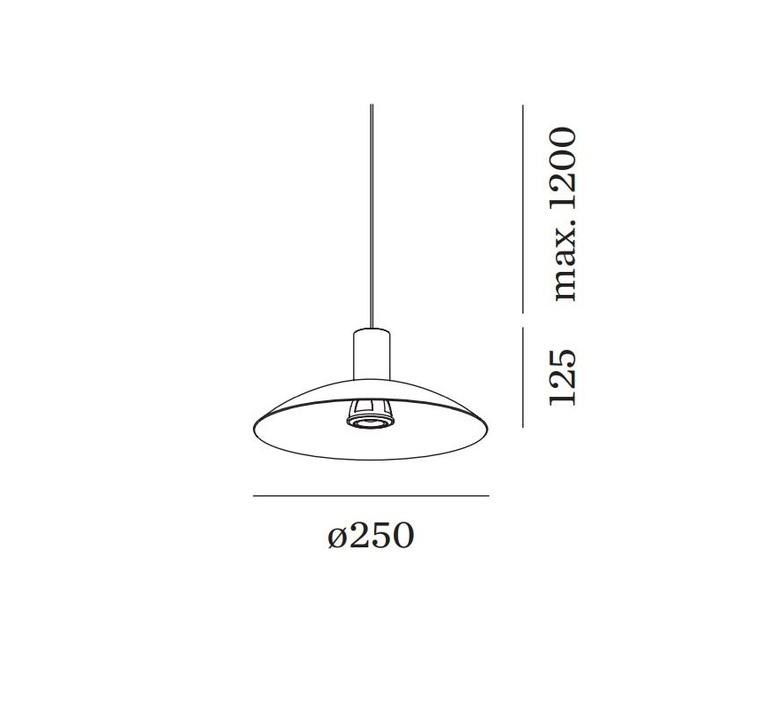 Odrey ceiling suspended 1 0 8 0 1 0 rosace en saillie noire studio wever ducre suspension pendant light  wever et ducre odrey icss ssb1b8b1b  design signed nedgis 94900 product