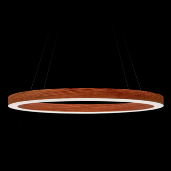 Suspension oh line bois naturel de cerisier led 3000k 2743lm o80cm h5cm lzf normal