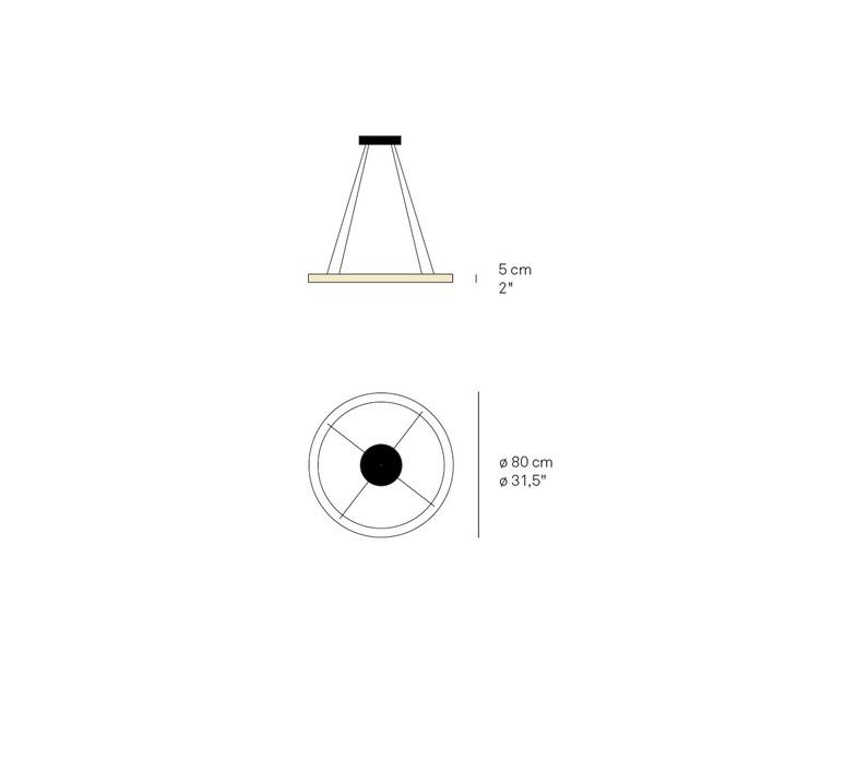 Oh line marivi calvo suspension pendant light  lzf o ln s 80 led dim0 10v 31  design signed nedgis 98240 product