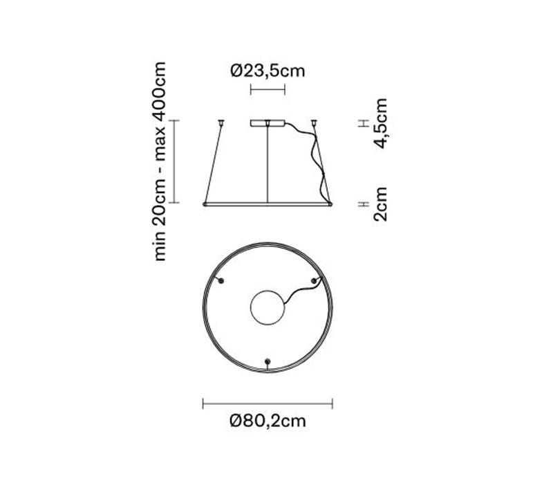 Olympic lorenzo truant suspension pendant light  fabbian a45a0101  design signed nedgis 121831 product