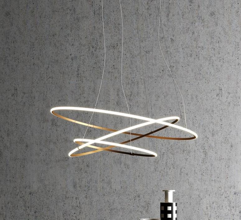 Oympic f45 3 diffusers bronze lorenzo truant  suspension pendant light  fabbian bronze f45 a11 76  design signed nedgis 72161 product